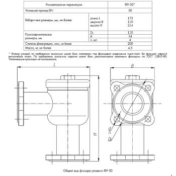 Фильтр угловой ФУ-50