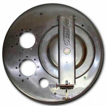 Крышка люка горловины алюминиевая с отбортовкой ЛА600 АМГ-3М-007