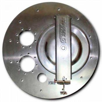Крышка люка горловины плоская алюминиевая ЛА600 АМГ-3М-005