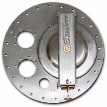 Крышка люка горловины плоская алюминиевая ЛА600 АМГ-3М-006
