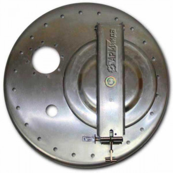 Крышка люка горловины бензовоза на 24 болта алюминиевая с отбортовкой ЛА600 АМГ-3М-008