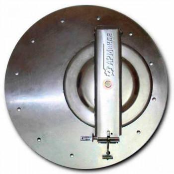 Крышка люка горловины плоская алюминиевая ЛА600 АМГ-3М-009