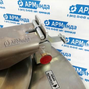 Крышка люка горловины плоская алюминиевая ЛА600 АМГ-3М