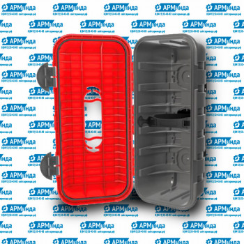 Ящик огнетушителя 6кг диам.160мм 295x215х620(H)
