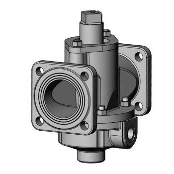 Битумный стальной двухходовой (проходной) кран К-80-II-002 ф80 Ст 20 с паровым или масленым обогревом