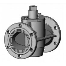 Битумный стальной двухходовой (проходной) кран ДУ-100