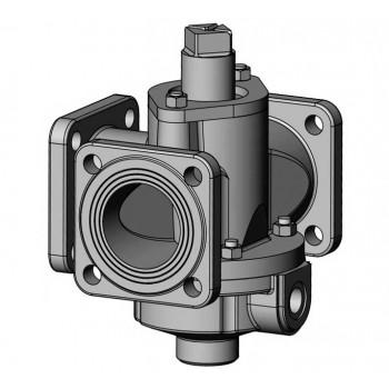 Битумный стальной трехходовой кран К-80-III-003 ф80 мм Ст 20 с паровым или масленым обогревом